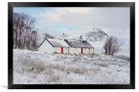 Black Rock Cottage Glencoe, Framed Print