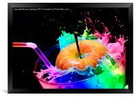 Apple Splash, Framed Print