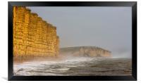 West Bay's East Cliff. , Framed Print