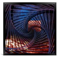 Blue Time Chart , Framed Print