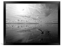 Salt Lagoon B&W, Framed Print