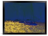 Rushing Gold, Framed Print