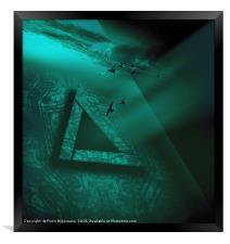 Triangular Monochrome, Framed Print