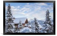 Chalet with a view, Framed Print