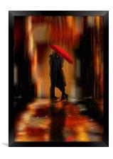 A deluge of love fantasy love and romance, Framed Print
