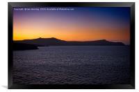 greek sunset, Framed Print