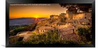 Volterra Sunset, Framed Print