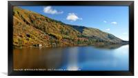 """Autumn sunshine at lake Thirlmere"", Framed Print"