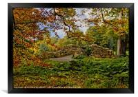"""""""Little stone bridge in the park"""", Framed Print"""