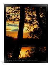 """""""Sunset across the lake"""", Framed Print"""
