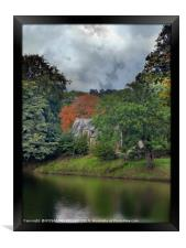 """""""Spooky Cottage by the river"""", Framed Print"""