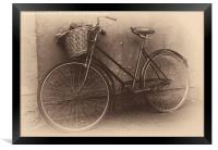 Antique Bicycle, Framed Print