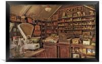 The Old Grocery Store, Framed Print
