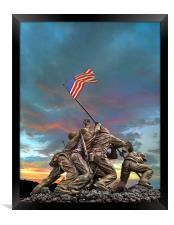 The Battle of Iwo Jima, Framed Print