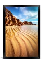Sand Pand Patterns at Pedn Vounder, Framed Print