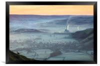 Sheep above the Hope Valley, Framed Print