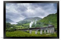Jacobite Express crossing Glenfinnan Viaduct, Framed Print