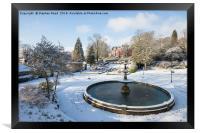 Snow in Corporation Park, Framed Print