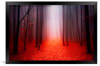 The Red Forest, Framed Print
