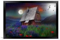 the little cabin , Framed Print