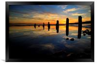 Low tide reflections, Framed Print
