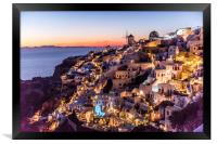 Sunset in Oia Santorini, Framed Print