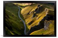 Winnats Pass in summer, Framed Print