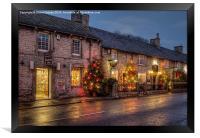 Christmas comes to Castleton, Derbyshire, Framed Print