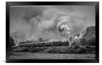 61034 'Chiru' leaving Grosmont, Framed Print