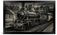 62005 at grosmont station, Framed Print