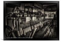 Waiting for the next train, Framed Print