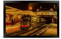 34092 'City of Wells' at Keighley, Framed Print