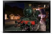 Night time coaling at Grosmont, Framed Print