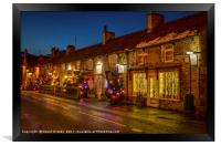 Christmas comes to Castleton, Framed Print