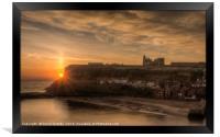 Sun rising over the Abbey, Framed Print