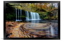 Sgwd Ddwli Uchaf - Waterfall, Wales, Framed Print