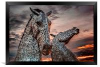 Kelpies in Falkirk, Scotland, Framed Print