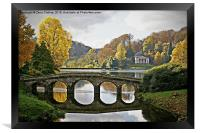 Stourhead Bridge Reflection, Framed Print