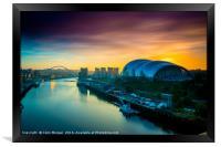 Sage Sunrise Gateshead, Framed Print
