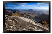 The Summit of Snowdon, Framed Print