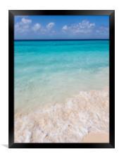 The beautiful Klein Curacao deserted island  Cura, Framed Print