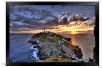 South Stack Lighthouse, Framed Print