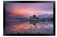 Eilean Donan Castle at sunrise, Framed Print
