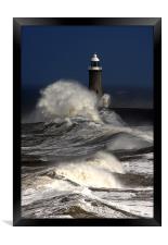 Tynemouth Pier, Framed Print