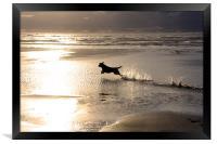 Walking around Rhosneiger coastline, Framed Print