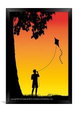 Childhood dreams, The Kite, Framed Print