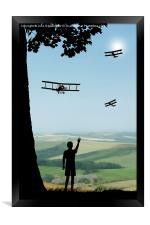 Childhood Dreams - The Flypast, Framed Print