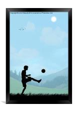 Childhood Dreams, Football, Framed Print