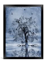 The Wishing Tree Cyanotype, Framed Print