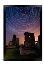 Stonehenge Startrails 3, Framed Print